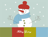 Happyholidays3 Greeting Card (4x55)